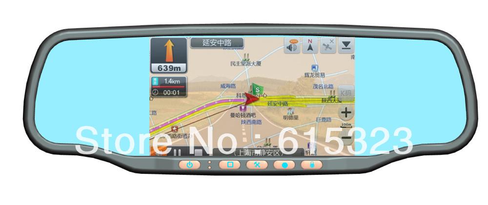5.0 Inch Bluetooth Rear view Mirror within GPS +720P HD DVR+TF card+radar detector+wireless reversing camera(China (Mainland))
