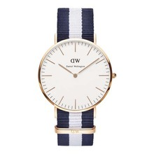 Hot Sale Brand Luxury Style Daniel Wellington Watches Rose Gold Watch Women Men Nylon Strap Military