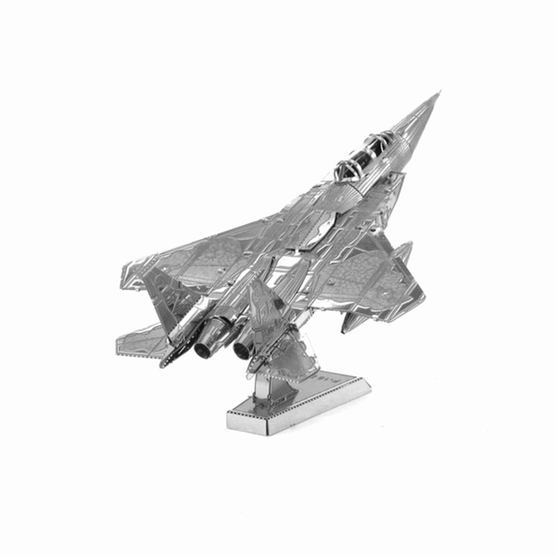 Finger Rock 3D Puzzle Metal DIY F15 Fighter Military AirplaneMass Effect World's Famous Building Model Gift Toys Mini Jigsaws(China (Mainland))