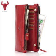 Buy CONTACT'S Genuine Leather women wallet female clutch bag ladies coin money bag card holder Organizer wallet women luxury brand for $14.80 in AliExpress store