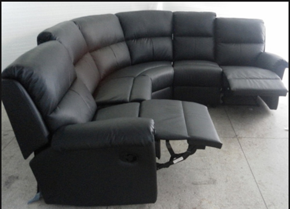 Big size recliner leather sofa for living room 822 in for What size sectional for my room