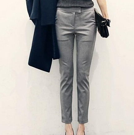 Original  Grey For Women Office Fashion More Capri Pants Pants Skirts Shorts