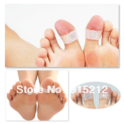1pair/lot Body Building Weight Lose Slimming Massager Silicon Magnetic Foot Massage Toe Ring Retail Packing(China (Mainland))