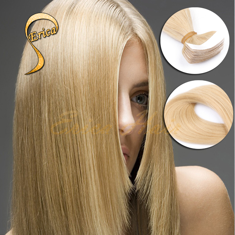 Tape In Hair Extensions Remy 40 Pieces 100% Virgin Remy Tape In Hair Extensions Best Skin Weft Tape In Human Hair Free Shipping(China (Mainland))