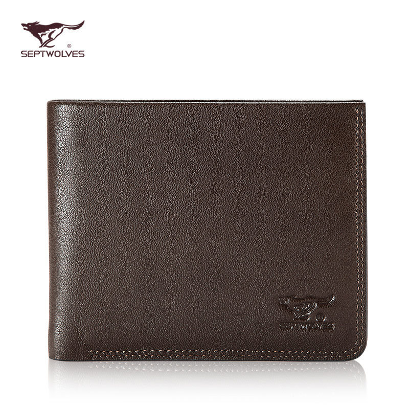 2014 fashion men  Septwolves genuine leather male  quality wallet brief soft leather male wallet<br><br>Aliexpress