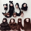 Kids Toy High Quality Doll Head with Black Brown Hair DIY Accessories For Barbie Doll For