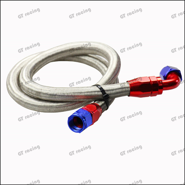 Universal Oil Feed Kit 1meter Stainless Steel Braided hose -AN8 fittings(China (Mainland))