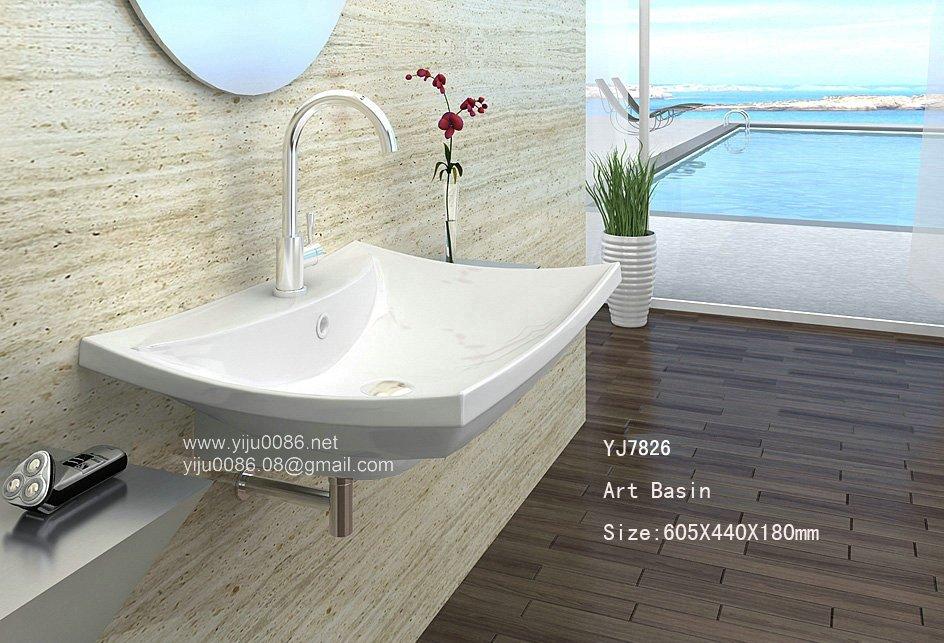 Design moderno pia de louça sanitária lavatório do banheiro bacia em Pias de  -> Pia Banheiro Bacia