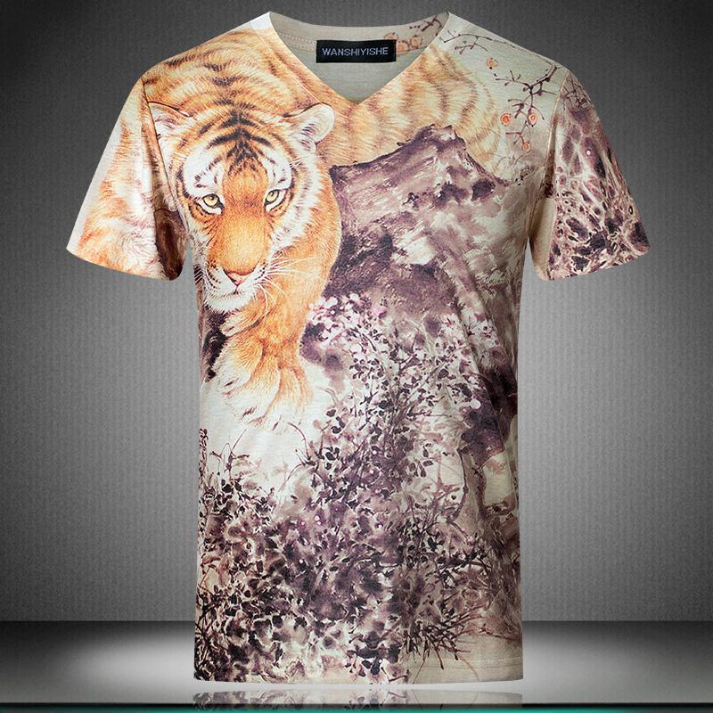 Large size men 3d print t shirt brand designer men short for Good t shirts brands