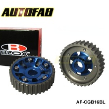 AUTOFAB -Blox Adjustable Cam Gears Alloy Timing Gear for HONDA CIVIC B16A B18C INTEGRA DC2 88-00 AF-CGB16BL(China (Mainland))