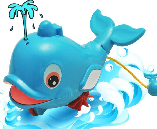 062871 baby bath tub spray dolphins whales swimming beach creative new design water toys for children free shipping(China (Mainland))