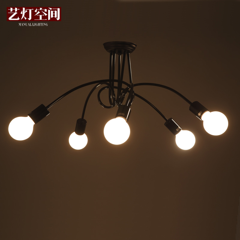 3/5 Head Modern Home Black/White/Red Color Dining Room Light Balcony Ceiling Light Free Shipping<br><br>Aliexpress