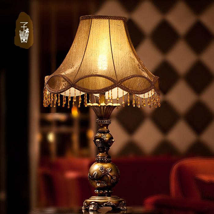 2015European table lamp for bedroom, W13*H24e27 vintage bedside lamp,110v 220v abajur para quarto led dimming night lights<br><br>Aliexpress