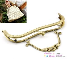 "1PC Antique Bronze Purse Bag Metal Arch Frame Kiss Clasp Lock Handle 21x15cm(8 2/8""x5 7/8"") (B21736)8seasons(China (Mainland))"