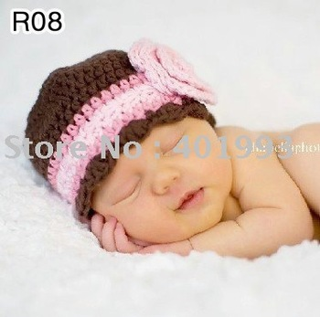 60pcs/lot 0-6Month newborn cap crochet baby hat children cotton hat Stripes Beanie with ear ANIMAL HAT crochet cap frog hat