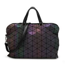 2016 Brand Noctilucent Women Bao Bao Bag High Quality Geometric Handbags Plaid Shoulder Diamond Lattice BaoBao Briefcase Bags(China (Mainland))