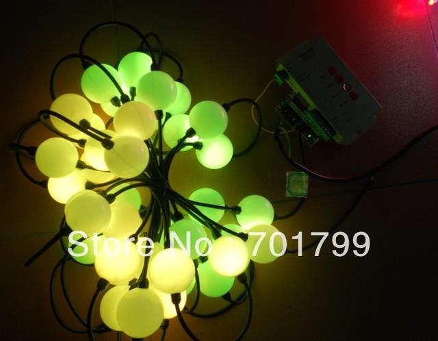 50pcs 360degree emitting 50mm diameter full color TM1804 pixel ball + 60w power supply+ T-1000S sd card controller