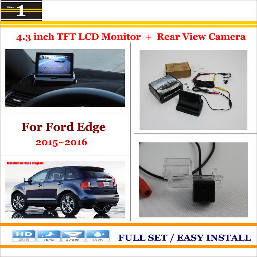 "4.3"" TFT LCD Monitor + Car Rearview Back Up Camera = 2 in 1 Car Parking System - For Ford Edge 2015 2016(China (Mainland))"