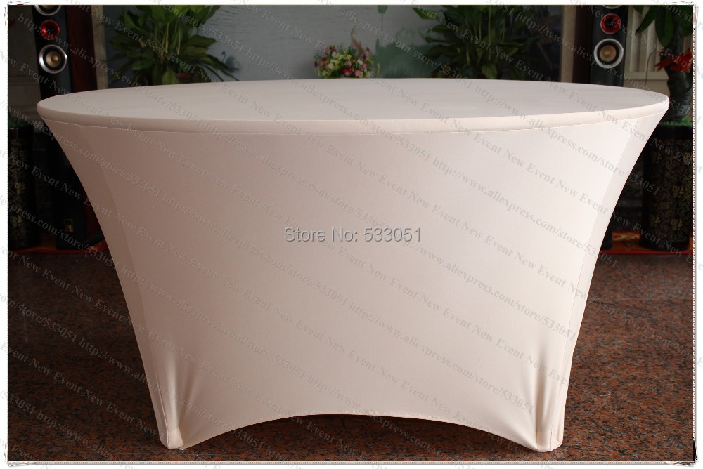 Champagne Spandex Table Cover/Lycra Tablecloth/Chair Sash/Chair Covers /Napkin For Wedding Party Hotel Banquet Home Decorations(China (Mainland))