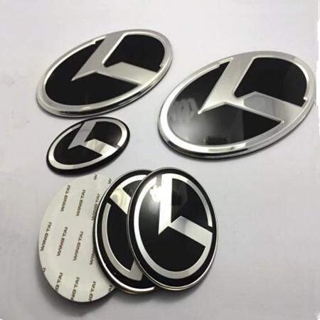 7pcs/set black K logo fit KIA OPTIMA K5 /car Wheel Centre Cap Emblem /3D sticker K Logo Hood Trunk Steering new(China (Mainland))