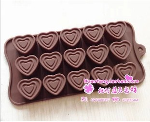 15C Heart Silicone Cake Chocolate Soap Pudding Jelly Candy Ice Cookie Biscuit Mold Mould Pan Bakeware xj438 - duanduan yu's store