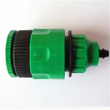 10pcs Garden Hose Pipe Adapter 1/2 or 3/4 Male Thread Tap Quick Connector Fitting With 1/4 Micro Tubing For Drip Irrigation(China (Mainland))