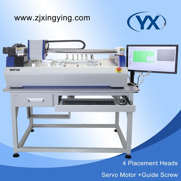 Automatic 4 Heads SMT330 With Servo Motor Vision Multifunction Small Pick and Place Machine With Smt Stick Feeders(China (Mainland))