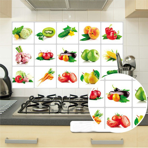 75*45 cm Kitchen Wall Stickers For Smoke Exhaust Foil Oil Sticker Decal Home Decor Art Accessories Bedroom Decoration(China (Mainland))