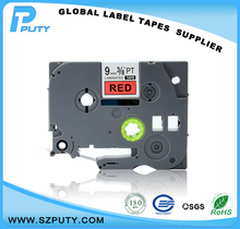 Black on Red 9mm*8m compatible tz label tape tze-421 tz-421 tze421 tz421