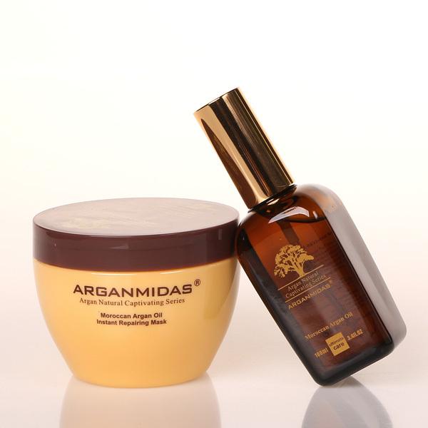 ARGAN OIL hair mask +Moroccan ARGAN OIL deep Moisturizing repair hair free shipping
