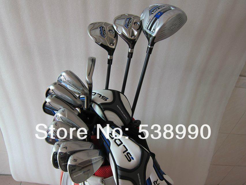 New SLDR Golf Complete Set Driver 9.5LOFT Fairway Woods #3#5 SpeedBlade Irons R300 Steel Shafts Golf Clubs Headcovers(China (Mainland))