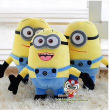 hot sale 3D eyes 25 cm despicable me minion soft plush toy Free shipping