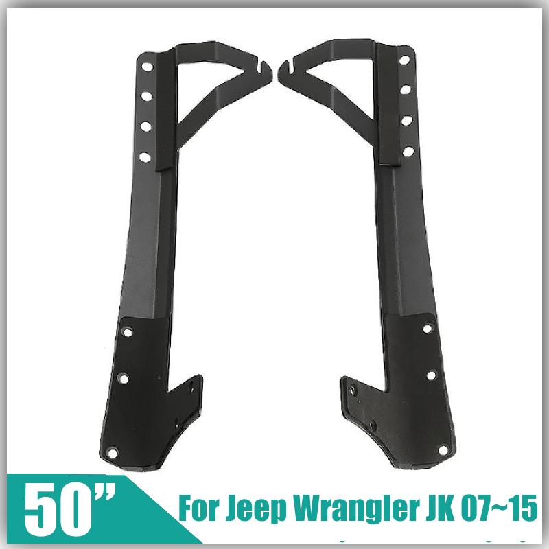 "Refit Installation System for Jeep Wrangler JK 2007~2015 for 50"" Straight LED Offroad Driving Light Bar Windshield Mount Bracket(China (Mainland))"