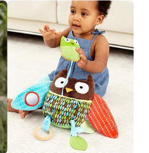 Free Shipping High Quality Hide Farm Owl Activity Toy Multi-functional Plush ToyComfort Doll Rattle Children Baby toys   <br><br>Aliexpress