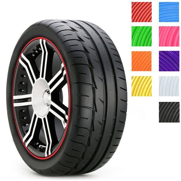 8M car Moulding Rim Care and maintenance and automobiles Wheel stickers 9 colors(China (Mainland))