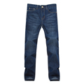 Straight Jeans for Men Long Jeans Casual Fashion Pants Denim Trousers Classic Style High Quality Large