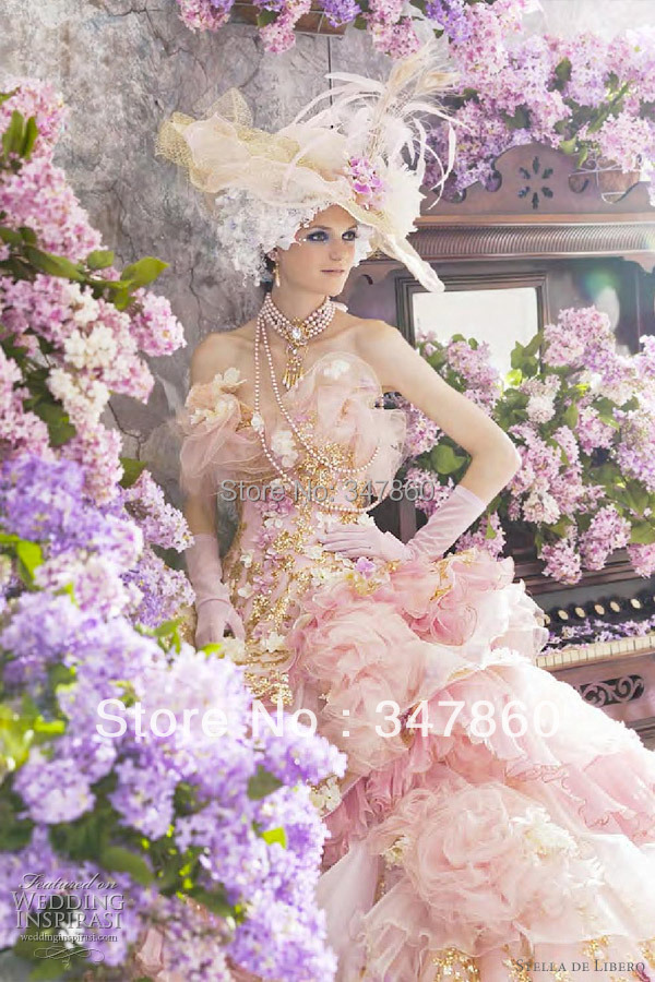 Pink Wedding Dress Dream Meaning : Pink gathered tulle skirt dotted ball gown wedding dresses in
