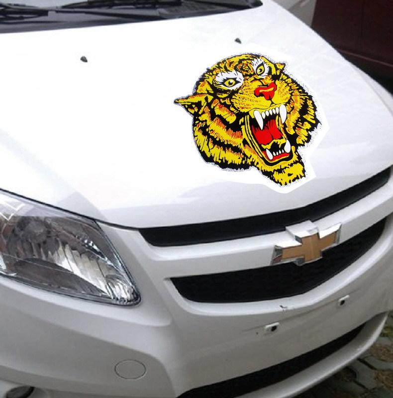 Laser reflective stickers car stickers car hood tiger cobbra sticker F-18(China (Mainland))