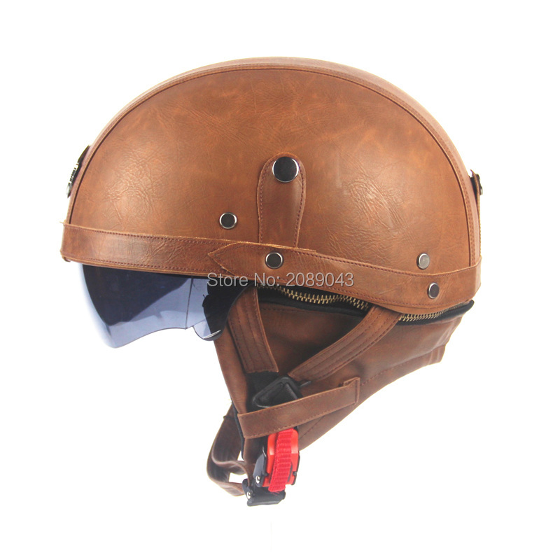 Adult Leather Harley Helmets For Motorcycle Retro Half Cruise Helmet Prince Motorcycle Helmet Vintage Motorcycle Helmet Moto(China (Mainland))