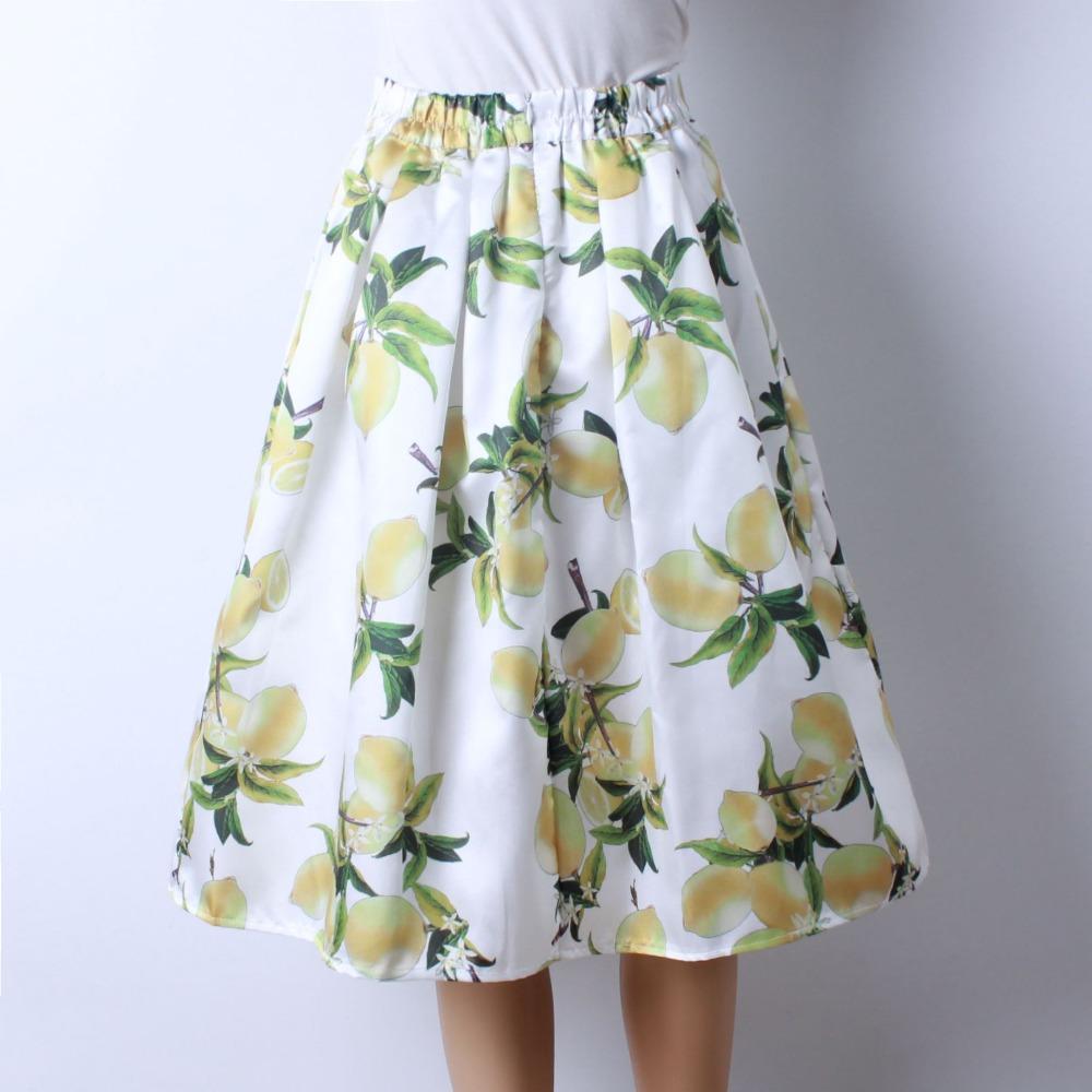 HTB1Lk5CQFXXXXbgXpXXq6xXFXXXS - GOKIC 2017 Summer Women Vintage Retro Satin Floral Pleated Skirts Audrey Hepburn Style High Waist A-Line tutu Midi Skirt