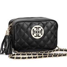 2015 Plaid Designer Frauen Messenger Bags Pu-leder Kleine Crossbody Umhängetaschen Frauen Schwarz Casual Bag Dollar Preis(China (Mainland))
