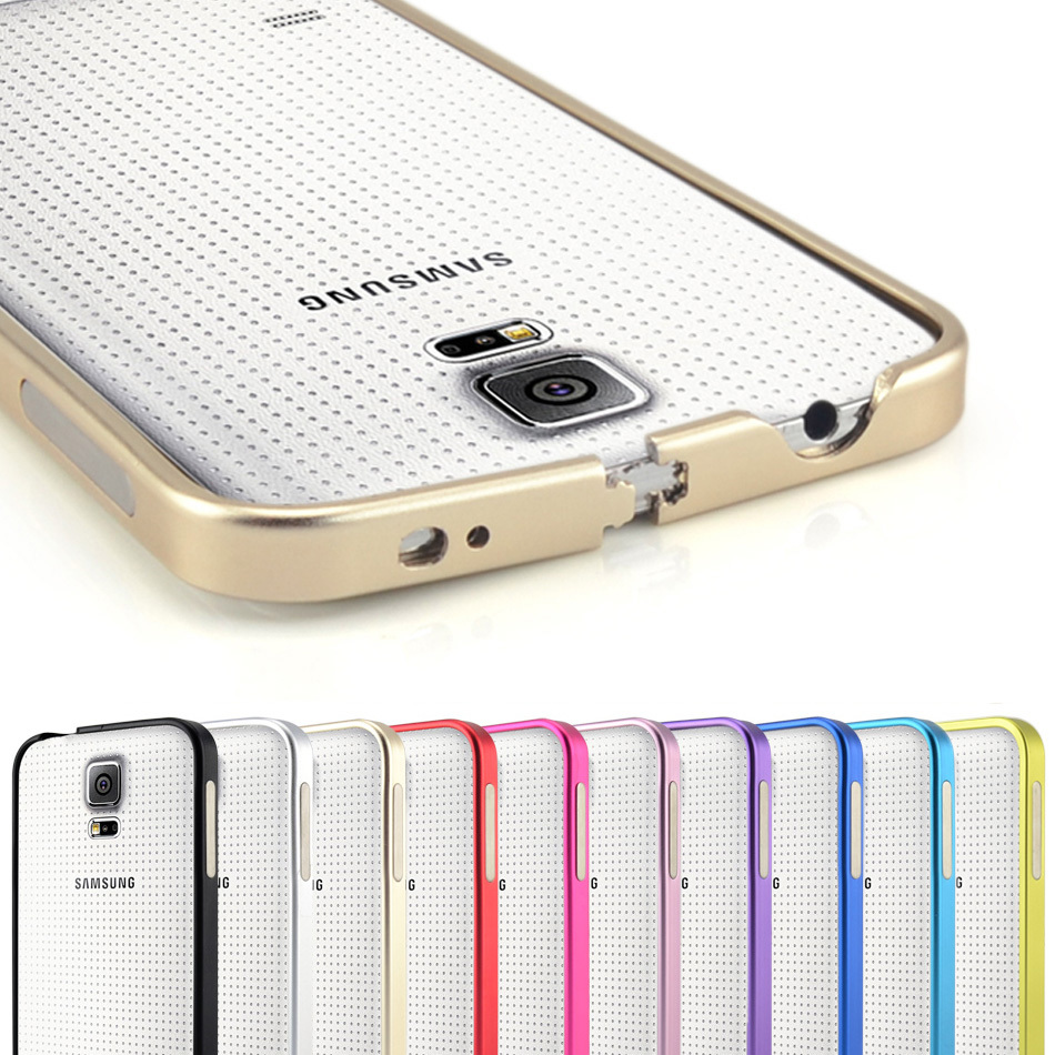 Ultrathin Aviation No Screws Frame S5 Phone Cover Ultra Thin Metal Luxury Aluminum Bumper Case For Samsung Galaxy S5 i9600(China (Mainland))