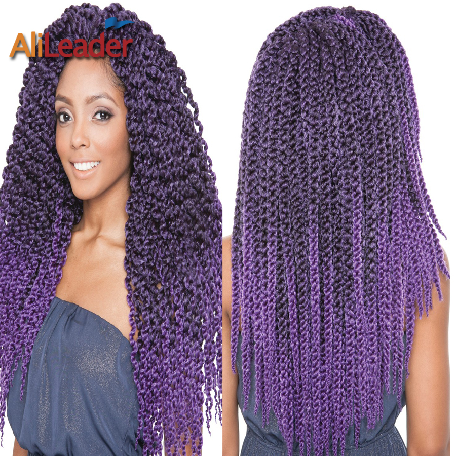 Crochet Box Braids Sale : Sale Ombre Purple Crochet Braids Hair 22 3D Split Cubic Twist Crochet ...