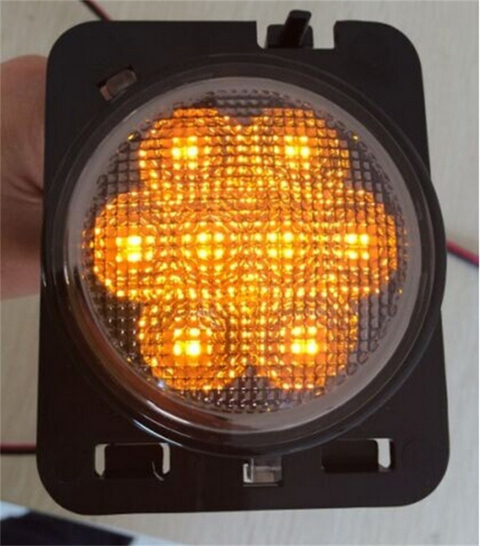 X Smoke Lens Amber LED Car Fender Turn Signal Lights For Jeep - Car signal light