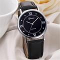 Feitong 2017 New Fashion Casual Dress Watch Men Women PU Leather Band Quartz Watches Wrist Watches
