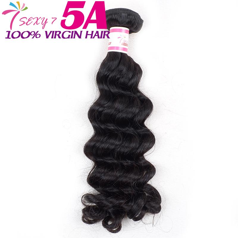 cheap brazilian deep wave hair weave 100 real human hair extension 1 bundle Large stock china unprocessed brazilian virgin hair(China (Mainland))