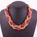 Hot Sale New Fashion Bohemian style Punk Fashion Simple multicolor Metal braid Twist Chain necklaces pendants