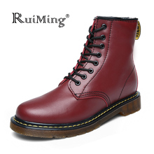 New 2016 Dr Ma Fashion women Winter Boots Snow boots Genuine Leather Martin boots Women Brand super Plus size Uinsex boots(China (Mainland))