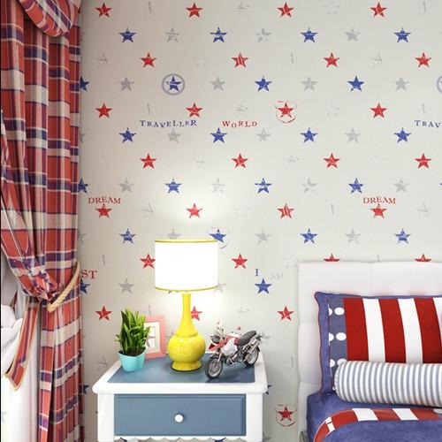 classic star boys bedroom wallpaper zk06 baby boy room decoration