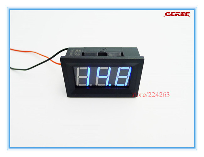 "Здесь можно купить  30pcs/lot Blue 0.56"" LED  4.5-150V DC Digital Display Voltmeter Vehicle Motors 12V  24V 36V Car Battery Panel Volt Meter  Инструменты"